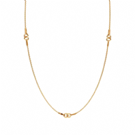 24K Gold Vermeil Cable Chain 17 inches